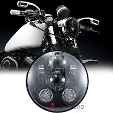 5 75inch black motorcycle driving led daymaker headlight bulb