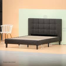 upholstered square stitched platform bed frame zinus