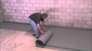 Floating Floor Underlayment Basement by Delta Fl Install Video Laminate Youtube