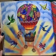 Balloon Enchanted Forest Coloring BooksColouringJohanna
