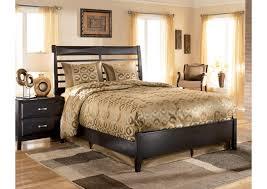 Kira Black Queen Panel Bed
