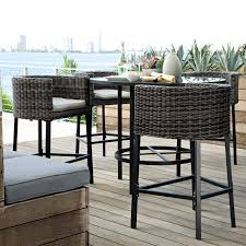 Garden Patio Furniture Bar Height Table And Chairs Pertaining To Pub Design 12