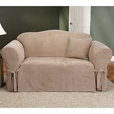 Sure Fit Sofa Slipcovers Amazon by Amazon Com Sure Fit Soft Suede 1 Piece Sofa Slipcover