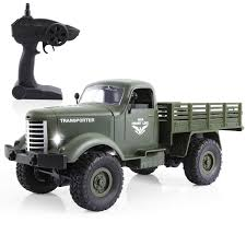100 4wd Truck Amazoncom RC Military 116 4WD OffRoad Crawler Army Car