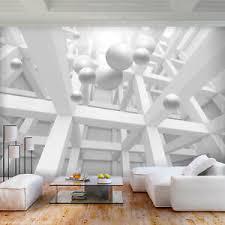 details zu vlies fototapete 3d optik tapete grau abstrakt wandbilder wohnzimmer 84
