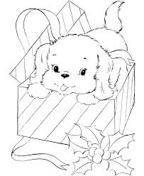 Pet Dog Coloring Pages Free Printable Puppy For Christmas Honkingdonkey Cat And