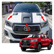 100 Truck Hood Scoops Fits Toyota Hilux Sr5 Revo Rocco 18 19 Bonnet Scoop Cover Nuts