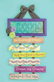 Who Says Class Rules Have To Be Boring This Classroom Wall Decor Adds A Decorative