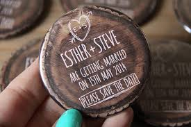 Rustic Save The Date Magnet