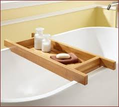 Bamboo Bath Caddy Nz by Comfortable Bamboo Bathroom Caddy Images Bathtub Ideas