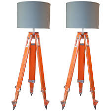 surveyors spotlight floor l pair of wood and aluminum chicago surveyor tripod floor ls at