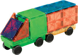 Valtech Magna Tiles 100 by Magna Tiles Cars 2 Piece Expansion Set Valtech Magnatiles