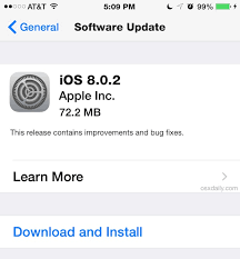 iOS 8 0 2 Update Released with Bug Fixes for iPhone iPad iPod touch
