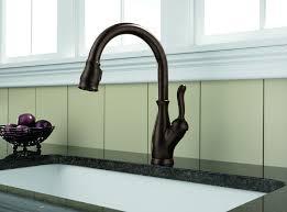 Delta Victorian Bronze Bathroom Faucet by Delta 9178 Rb Dst Leland Single Handle Pull Down Kitchen Faucet