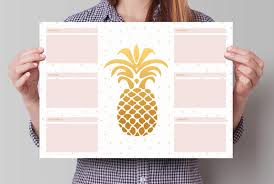 Decorative Desk Blotter Calendars by Weekly Planner Desk Pad A3 Desk Planner Sheets Pineapple