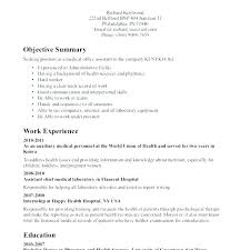 Sample Medical Assistant Resume Resumes Samples Skills Examples Of Assista