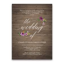 Rustic Watercolor Floral Purple Wedding Reception Only