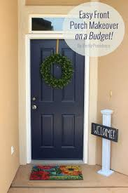 Navy Front Door Easy Front Porch Makeover A Bud French Navy