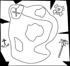 Black and White Pirate Treasure Map Clip Art Black and White