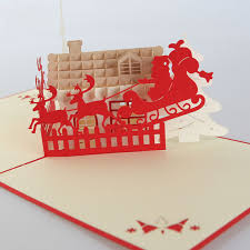 Happy Garden Tree Snowflake Pop UP Christmas Card