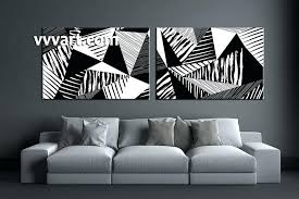 Abstract Black And White 2 Piece Huge Pictures Living Room Multi Panel Canvas