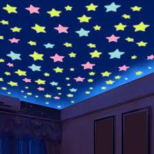 100PCSSet 3cm Diameter Stars Glow In The Dark Luminous Fluorescent