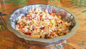 cuisine salade de riz recette de salade de riz au thon maïs et poivron cuisine
