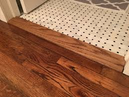 Laminate Floor Transitions To Tiles by Building A Custom Floor Transition Threshold Kraftmade Youtube
