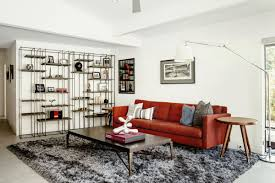 A Large Shag Rug Anchors The Den TV Room Of Remodeled Midcentury Modern Home In Sacramento CA Photo By Carlos Chavarria Curbed Handbook