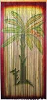 Bamboo Bead Curtains For Doorways by Bamboo Door Bead Curtain With Banana Tree