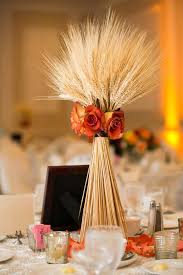 Wheat Fall Wedding Centerpiece