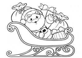 Santa Claus Coloring Pages On Sleigh