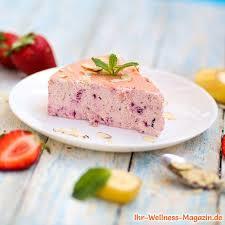 low carb erdbeer quarkkuchen ohne boden käsekuchen rezept