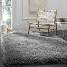 Safavieh Handmade Luxe Shag Super Plush Grey Polyester Rug 8 x 10