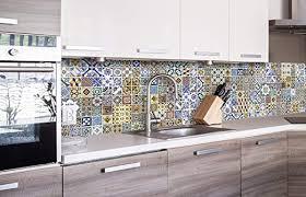 dimex line küchenrückwand folie selbstklebend portugiesische fliesen klebefolie dekofolie spritzschutz für küche premium qualität made in eu