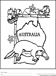 More Images Of Australia Colouring In Posts
