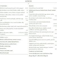 Chiswell Street Dining Rooms Menu Bar 25 Pages Food
