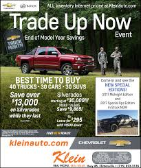 Klein Chevrolet Buick Newspaper Ad | Clintonville GM Dealer Best Timef Year To Buy New Car Sc Times Autocover 2018best Spissioncom End Of The Year Best Time To Buy New Car 2019 Ram 1500 Rebel A Better Offroad Pickup Lifted Trucks For Sale Dave Arbogast Allnew Silverado Truck Full Size When Is The Time Bankratecom What Is Charge Bird And Lime Scooters Ray Varner Ford Llc Summer 2018 Titan Fullsize With V8 Engine Nissan Usa F150 Americas Fordcom Move Moving Tips Houston Credit Restore Davis Chevrolet Auto Fancing
