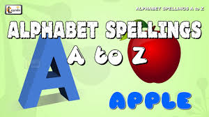Alphabet Spellings A To Z How To Spell Words For Children A For