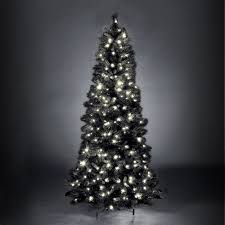 7ft Slim Led Christmas Tree by Spruce Slim Black Pre Lit Led Christmas Tree