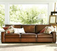 stupendous pottery barn leather sofa for house design gradfly co