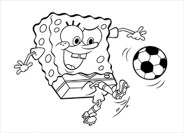 This Sponge Bob Play Football Coloring Page Will Encourage The Kids To Take Interest In Game While They Fill Colors On