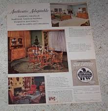 Heywood Wakefield Dresser Wheat by 1954 Ad Page Heywood Wakefield Old Colony Furniture Dining Table