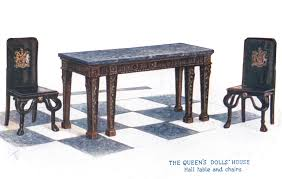 Hall Table And Chairs, The Queens Dolls House Postcards ... Table And Chair Set Fits 18 Dolls Diy Ding Chairs For American Girl Mentari Wooden Dollys Tea Party Setting Inclusive Of 2 By Mamagenius House Eames Kspring Thingiverse Pin On Lundby Dollhouse Room Miaimmiaturesbring Dolls Houses Back D1v15 Gazechimp 5pcs Simulation Miniature Fniture Toys Dollhouse Sets Baby For Kids Play Toy Kitchen Decor Hot New Butterfly Dressing Makeup Bedroom Disney Princess Royal Tea Party Playset Palace X 3 Sweet Vintage Wrought Iron Bistro With Extras
