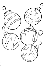 Christmas Ornament Coloring Page Pages For Mistletoe Sheets