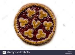 linzer torte pie from linz stock photo alamy
