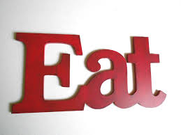 Shabby Chic Red Eat Sign For Kitchen Decor Pick Your Color