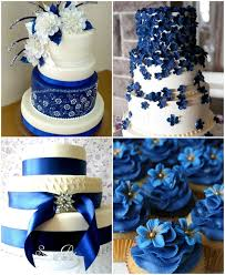 Royal Blue Theme Wedding Cakes