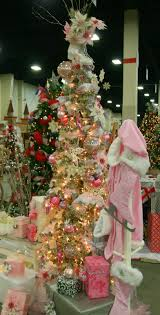 Pink Flocking Spray For Christmas Trees by Adventures Of A Busybee Vintage Pink Ice Skating Christmas Tree