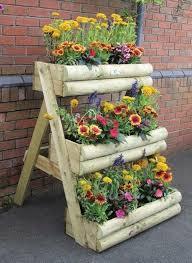 Garden Design With Wooden Flower Pots Ideas Which DIY Rustic Shelves Fushia